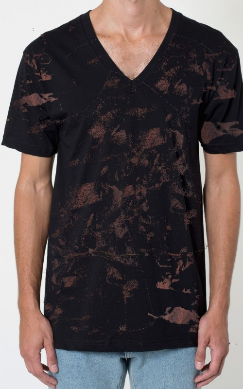 mens vneck blk copper